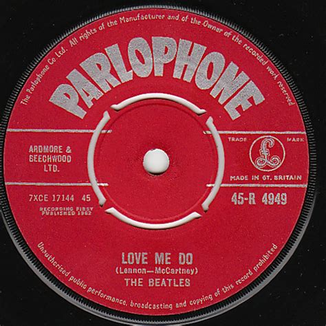 love me do the beatles red parlophone love me do 45