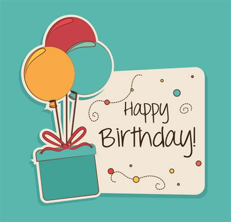 birthday card design template style happy birthday greeting card template 03