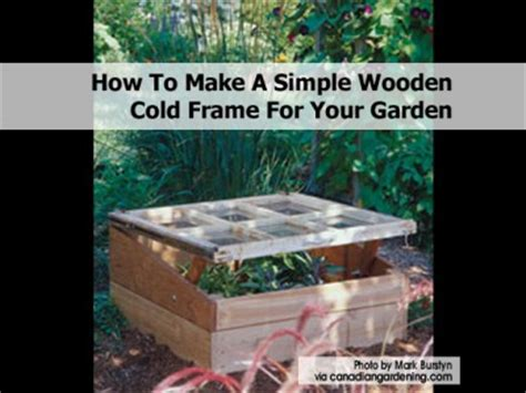 how to make a simple wooden cold frame for your garden