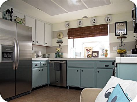 Diy Blue Kitchen Ideas Room Decorating Before And After Makeovers