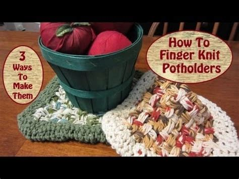 how to knit a potholder 25 best knit potholders pads images on