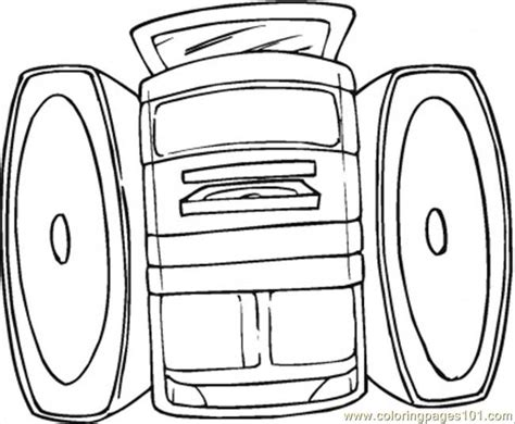coloring pages kitchen appliances sound system coloring page free home appliances coloring