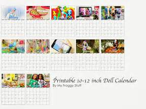 18 Doll Desk My Froggy Stuff Printable Dollhouse Calendars