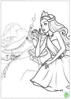printable barbie princess coloring pages  kids
