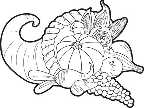 printable cornucopia coloring page coloring pages