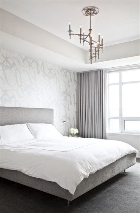 grey and white bedroom wallpaper gray velvet curtains contemporary bedroom palmerston