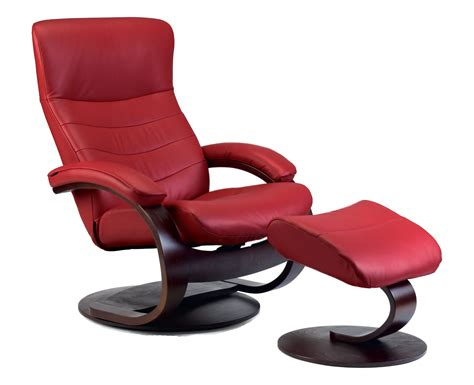 Fjords Chairs by Fjords Trandal Ergonomic Leather C Frame Recliner Chair