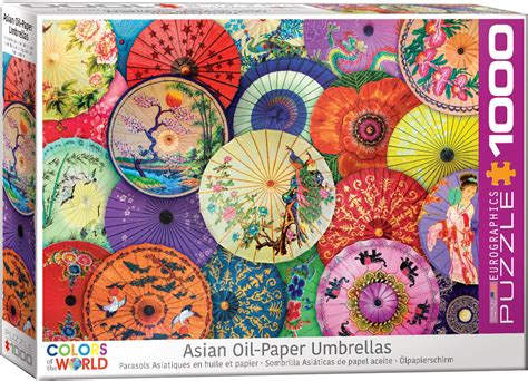 asian oil paper umbrellas jigsaw puzzle  eurographics