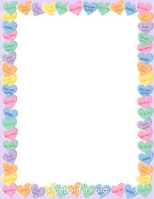 Candy heart border clip art page border and vector graphics