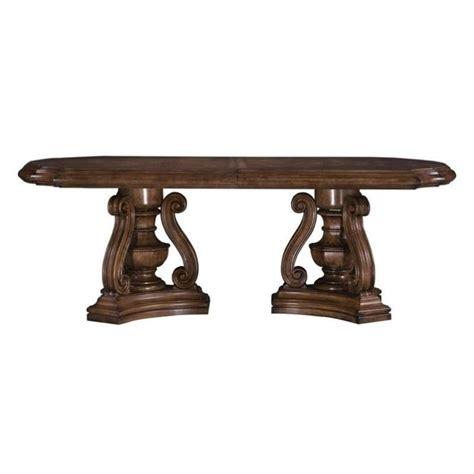 pulaski san mateo pedestal formal dining table in