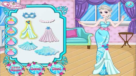 design dress online free games elsa wedding dress design free online kids games youtube