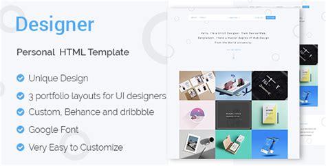 Designer Ui Ux Designers Portfolio Html Template Jogjafile Ux Portfolio Template
