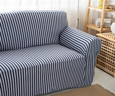 Striped Sofa Slipcovers Sure Fit Grainsack Stripe Striped Slipcovers For Sofas