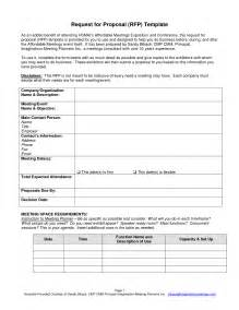 Meeting Rfp Template by Best Photos Of Request For Form