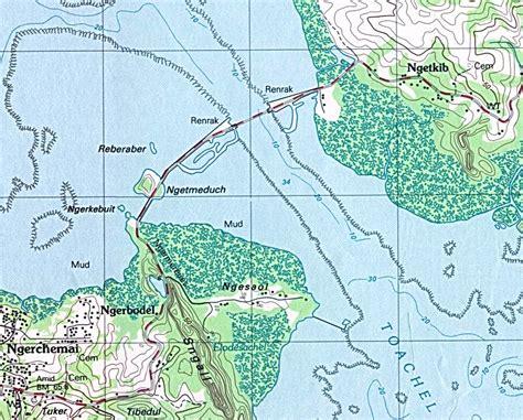 palau babeldaob island map file palau koror babeldaob bridge map png wikimedia commons