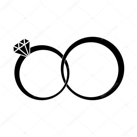 Anillos de boda signo icono. Símbolo de compromiso. Diseño