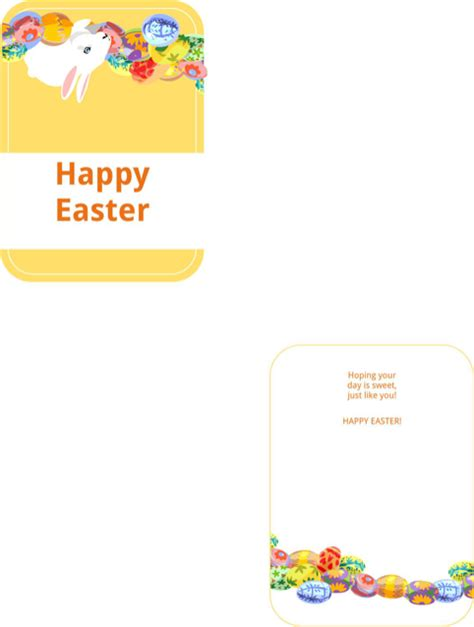 easter card template microsoft word card template for free formtemplate
