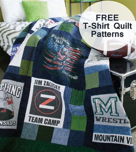 T Shirt Patchwork Quilt - turn your favorite t shirts into a patchwork quilt to get