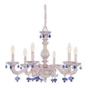 Blue Chandelier Crystals Blue Shabby Chandelier