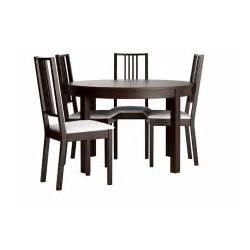 Black Dining Table And 4 Chairs Bjursta B 214 Rje Table And 4 Chairs Brown Black Gobo White