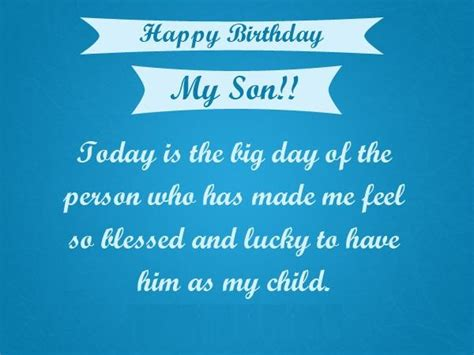 Happy Birthday Wishes For On Happy Birthday Son Quotes Images Pictures Messages