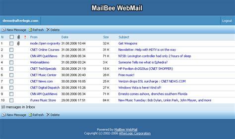 webmail west  net software mailbee webmail
