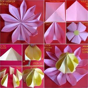 Easy Paper Folding Flowers - 17 best images about 3d origami on newspaper