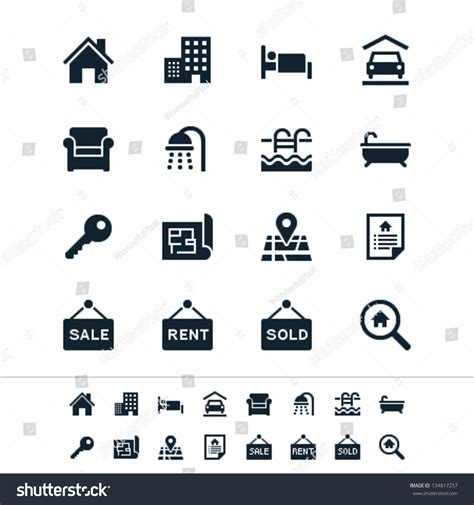Floor Planning Finance by Royalty Free Real Estate Icons 134817257 Stock Photo