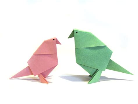 Origami Bird - easter origami bird easy origami tutorial how to make