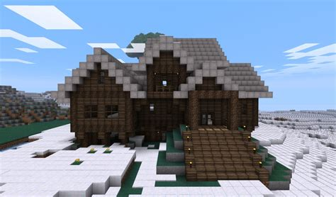 Minecraft Cabin House by Log Cabin Style House Minecraft Project