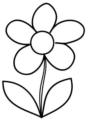 the 25 best ideas about flower outline on pinterest