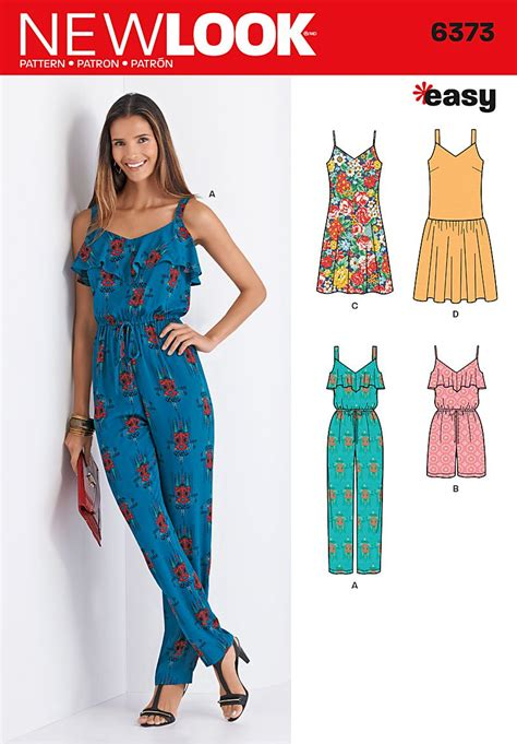 jumpsuit sewing pattern 2015 new look 6373 misses jumpsuit or romper and dresses