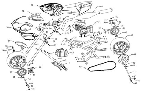 49cc pocket bike engine diagram 49cc gy6 scooter wiring diagram get free image about