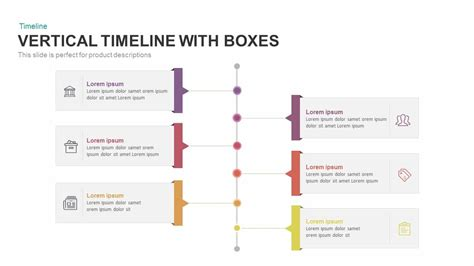 Vertical Timeline with Boxes Powerpoint and Keynote