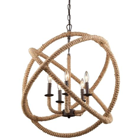 Rope Chandelier Large Rope Sphere Chandelier