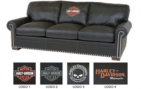 black leather sleeper sofa queen harley davidson officially licensed black leather queen