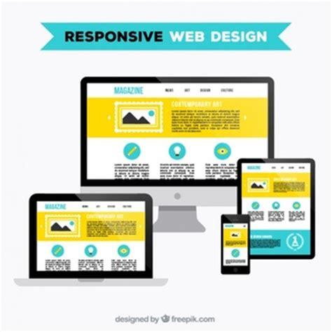 imagenes diseño web responsive sensible fotos y vectores gratis
