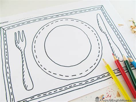 A Typical English Home Printable Placemats For Kids To Color Photo Placemat Template