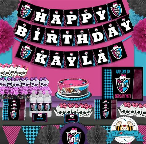 Monster High Printable Party Decorations | monster high birthday party printable standard package
