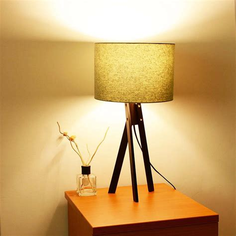 bedroom light stand modern tripod table desk floor lamp wood wooden stand home 10527 | 11dsl001 tri09 blk 07
