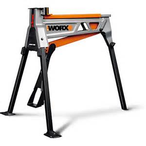worx jawhorse workbench with tool tray