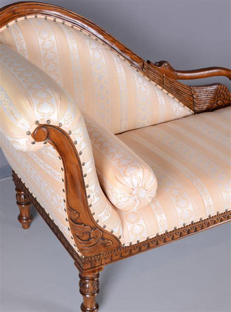 ottomane recamiere chaiselongue ottomane schwanen sofa empire chaiselongue antik liege