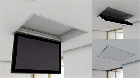 supporti tv da soffitto tv moving mfc supporto tv motorizzato da soffitto per tv