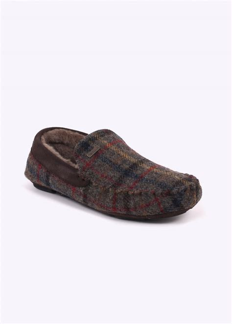 barbour slippers barbour monty slippers olive check barbour from triads uk