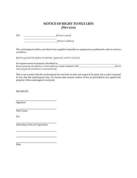 lien template 10 best images of notice of filing filed notice of