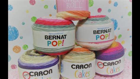 caron cakes bernat pop premier sweet roll yarn review youtube