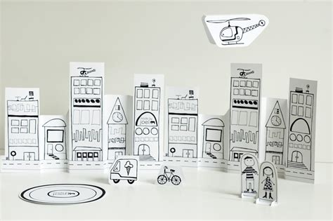 Paper Craft City - made by joel 187 paper city helicopter
