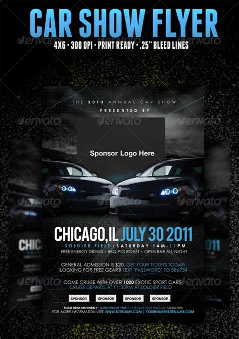 graphicriver car show flyer template