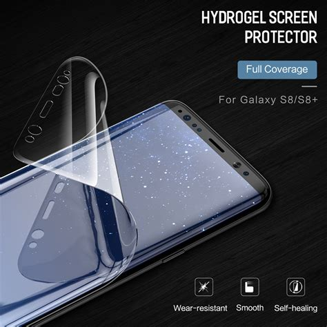 Healing Shield Galaxy S8 Screen Protector Curvedfit Prime rock 0 18mm self healing 3d curved hydrogel screen protector with positioner for samsung galaxy