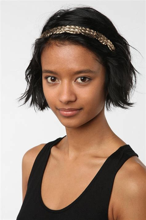 hairstyles with headband for short hair short hairstyles with headbands elle hairstyles